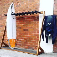QUALITY Handmade freestanding surfboard racks Natural pine boardRAX including free delivery to your door in sydneyqueensland metro areas 4 boards 140 6 . Surfboard Storage, Surfboard Rack, Kayak Storage Rack, Kayak Rack, Surf Lodge, Surf Shack, Piece A Vivre, Kayaking, Decoration