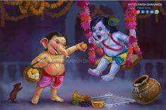 Happy birthday to my dear krishna. Krishna Hindu, Bal Krishna, Cute Krishna, Shri Ganesh, Radha Krishna Photo, Ganesh Lord, Krishna Leela, Hanuman, Durga