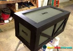 call of duty coffee table. Lots of storage and works with color scheme.