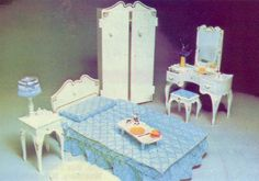 Sindy Doll Bedroom set