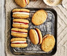 Make your own homemade biscuits with the best Monte Carlo biscuit recipe, complete with a cream jam filling just like the classic Arnott's cookie. Biscuit Bar, Biscuit Cookies, Biscuit Recipe, Fudge Recipes, Baking Recipes, Cookie Recipes, Monte Carlo Biscuits, Australian Food, Homemade Biscuits