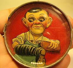 Early 20th Century Lithograph Printed Tin Plate Pocket Game