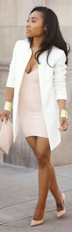 Slip Dress H&M | Jacket H&M | Clutch H&M | Heels Jimmy Choo | Bangles Shabby Apple - Layllah