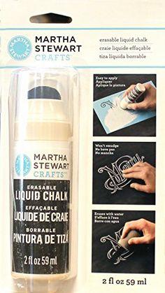 Martha Stewart Crafts Erasable Liquid Chalk (2-Ounce), 33... https://www.amazon.com/dp/B00MHTBKT2/ref=cm_sw_r_pi_dp_x_.aJlyb6GFXS94