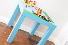 DIY Lego Kids Play Table And Storage Place (via shelterness)
