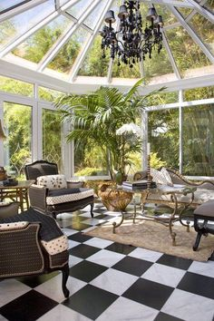 Sun room, i want a room like this with full windowed ceiling