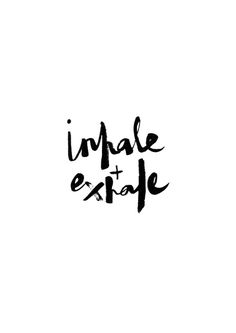 Inhale + Exhale // Monochrome Magic print by Tales At Sea Typography Art Print