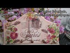 PaP Porta Chaves - Decoupagem, Esponjado Carimbos - YouTube