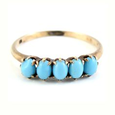 Antique Rose Gold Victorian CT Turquoise Band by laurenrosedesign, $159.00