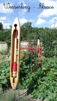 Voici mon site préféré en Alsace, Wesserling : écomusée textile, potager poétique et jardin imaginaire.