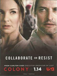PRINT AD for USA tv Colony Josh Holloway Sarah Wayne Callies ADVERTISING PAGE