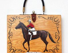 """Enid Collins of Texas 1962 """"The Sport of Kings"""" Box Bag w/tag"""