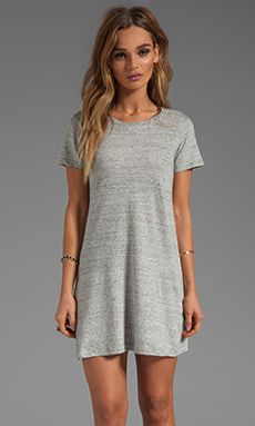 Theory Teju Dress in Heather Grey | REVOLVE