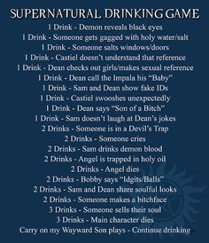 Supernatural Drinking Game: When Spencer and I are both