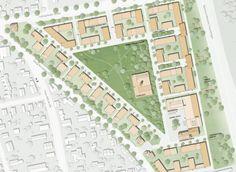 1. Preis: Städtebauliches Konzept, © pp a s pesch partner architekten stadtplaner