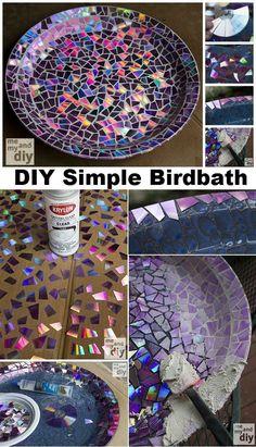 DIY Simple Birdbath | http://www.diyamazingideas.com/diy-simple-birdbath/