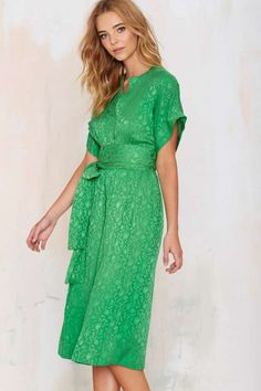 Vintage Albert Nipon Shape Up Silk Dress - Dresses