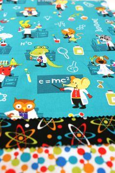 Mad scientist fabric ... cute!