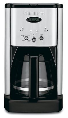 Cuisinart Stainless Steel Drip Coffee Maker at Lowe's. Start your mornings off right with this programmable coffee maker from Cuisinart. The capacity means there is enough of your favorite coffee to go Best Drip Coffee Maker, Stainless Steel Coffee Maker, Coffee Maker Reviews, Cafetiere, Thing 1, Central, Great Coffee, Small Appliances, Kitchen Appliances