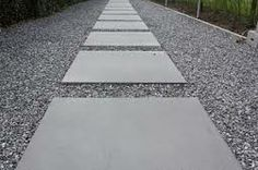 Tuin on pinterest tuin modern gardens and buxus - Slab tuin allee ...