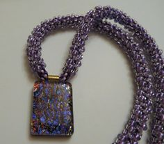 Items similar to Hand Bradied Kumihimo Necklace, Shades of Purple Dichroic Pendant and Toho Beads on Etsy Opal Necklace, Beaded Necklace, Etsy Jewelry, Jewelry Box, Pretty Necklaces, Vintage Jewelry, Unique Jewelry, Etsy Handmade, Handmade Gifts