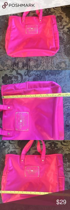 Victoria secret bag Used only one time very good condition. Has side packets Victoria's Secret Bags Totes