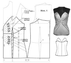 Bustier , patterns instructions