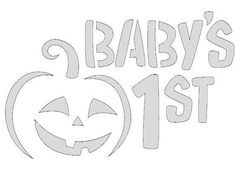 Baby's First Halloween Pumpkin Carving Pattern - Real Time - Diet, Exercise, Fitness, Finance You for Healthy articles ideas Halloween Pumpkin Carving Stencils, Easy Pumpkin Carving, Pumpkin Carving Patterns, Pumpkin Stencil, Pumpkin Art, Baby In Pumpkin, Halloween Pumpkins, Pumpkin Ideas, Carving Pumpkins