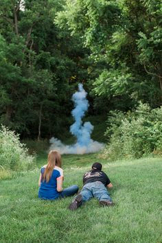Althouse Photography // www.althousephotography.com #genderreveal #tannerite #explosion #maternityphotography #itsaboy #blue