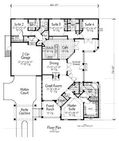 Four Bedroom Country Hwbdo73047 House Plan 4 Bed 3 1