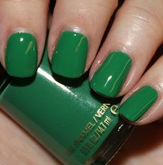 Revlon polish is some of the best available at the drugstore. It goes on smoothly and has more lasting power than brands like Maybelline. This Posh green is one of my current faves.