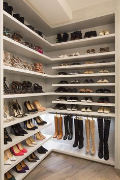 Best shoe storage ideas howards for 2019 Shoe Rack Ideas– Whether you have a magnificent shoe collection, or merely a great deal of feet in your house, a shoe planner possibility is vital to keep all of them all controlled. Walk In Closet Design, Closet Designs, Shoe Shelf In Closet, Diy Shoe Rack, Shoe Racks, Shoe Room, Master Bedroom Closet, Dream Closets, Home Design