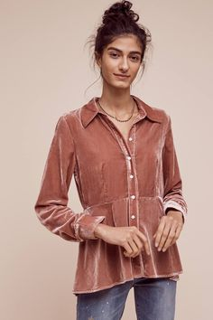 Shop the Velvet Peplum Buttondown and more Anthropologie at Anthropologie today. Read customer reviews, discover product details and more.