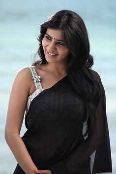 Samantha Ruth Prabhu in black transparent saree...