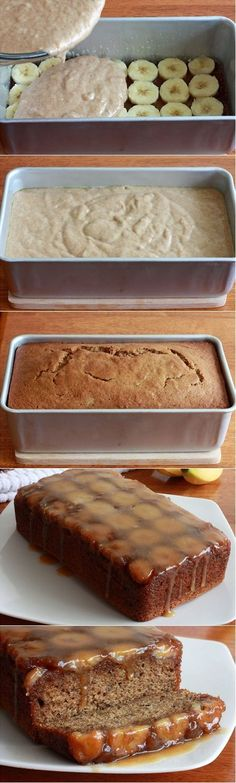 Caramel Banana Upside Down Bread | Cook...Taste...Enjoy