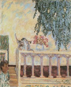 Pierre Bonnard - Cats on the Railing (1909)