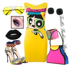 """""""Fresh"""" by trellinthecity on Polyvore featuring Christian Louboutin, Moschino, Sarah Magid, ABS by Allen Schwartz, ZeroUV and Lime Crime"""