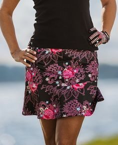 """Check out what Lori's Golf Shoppe has for your days on and off the golf course! Black Daily Sports Ladies HOLIDAY Athena 18"""" Wind Golf Skort #lorisgolfshoppe"""