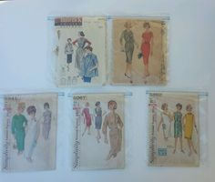 Vintage 1960's Cut Sewing Patterns Lot Of 5 Simplicity McCalls Butterick in Collectibles, Sewing (1930-Now), Patterns   eBay  #eBay#vintage #patterns #theeclecticrainbow
