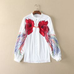 Women Blouse 2017 Summer High Quality Long Sleeve Embroidery Blouses and Shirts Big Size Ladies Casual Office Work Womens Tops