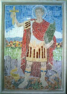 Santo Expedito em mosaico