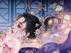 China Girl, Cute Anime Guys, Hanfu, Girls In Love, Manga Girl, Chinese Style, Asian Art, Asian Beauty, Fantasy Art