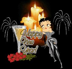 happy new year betty boop glitter