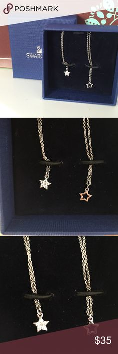 Swarovski Star necklaces Never used. New, it was suppose to be a gift for someone. There are two necklaces in this set. Swarovski Jewelry Necklaces