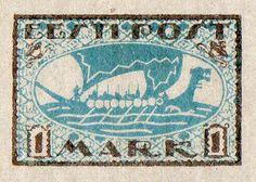Estonia 1920. Viking Ship. 1 Mark