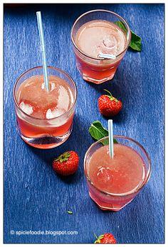 Strawberry Pomegranate Limeade