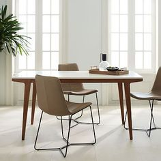 Design inspo for my MCM gateleg table with laminate top // West Elm Modern Expandable Dining Table $559-$719 on sale