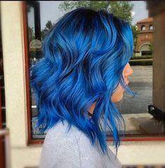 Hair, blue hair, hair inspo hair goals, hair and nails, dream hai Light Blue Hair Dye, Dark Blue Hair, Dyed Hair Blue, Hair Color Blue, Dye My Hair, Cool Hair Color, Green Hair, Purple Hair, Hair Colors