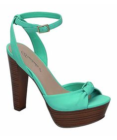Take a look at this Breckelle's Aqua Betsey Sandal today!