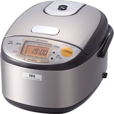 Zojirushi Micom 3 Cup Fuzzy Rice Cooker LCD Display Stainless Steel Brown
